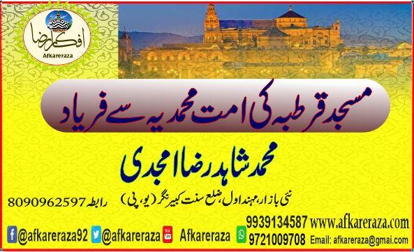 مسجد قرطبہ کی امت محمدیہ سے فریاد